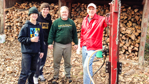 Camp-Hanover-virginia-christian-summer-camp-volunteers-splitter-woodshed-600x